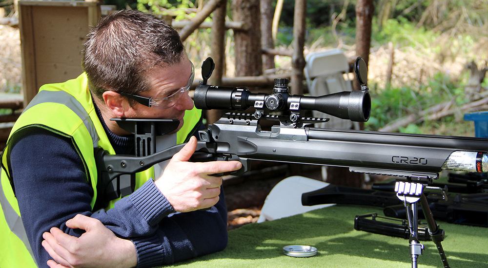 Shooting Experience Man using sniper rifle